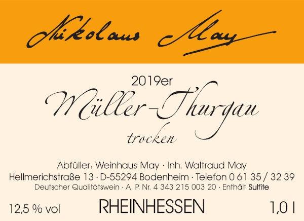 Weinhaus May Müller-Thurgau 2019