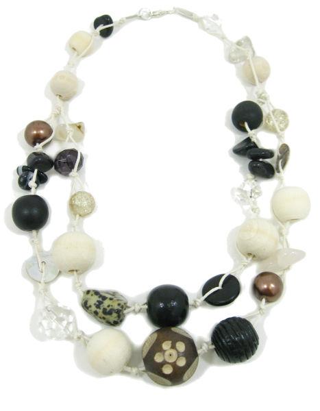 Halskette 2-Strang CAPPACHINO