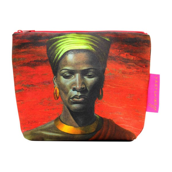 Tretchikoff Cosmetic Bag Zulu Girl Red Sunset
