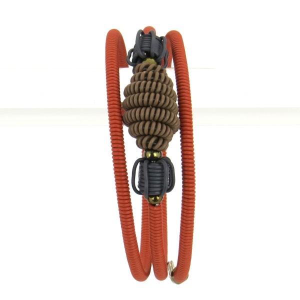 Armband Scoobie Spiral - double CLAY