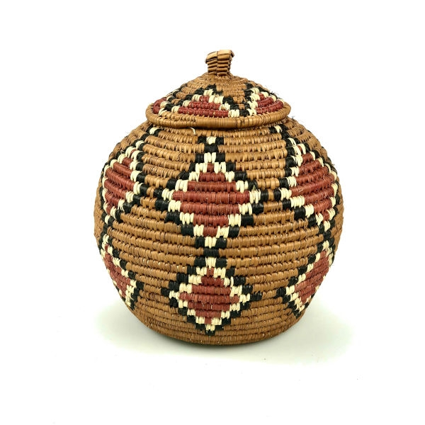 Ilala Weavers Lidded Basket small
