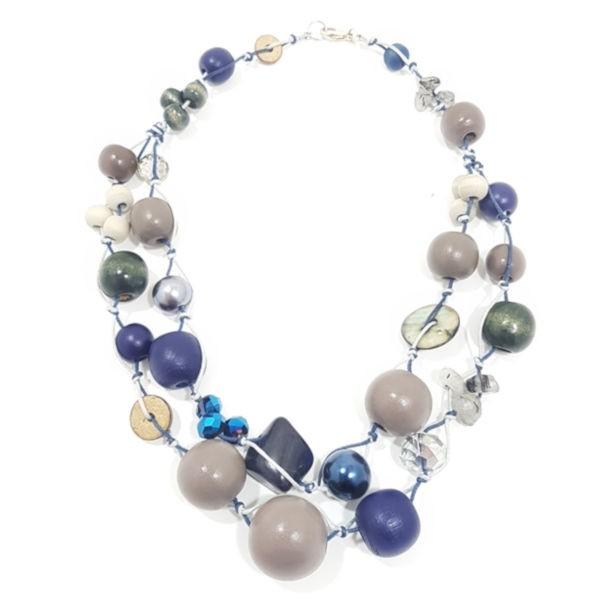 Halskette 2-Strang BLUE DOVE