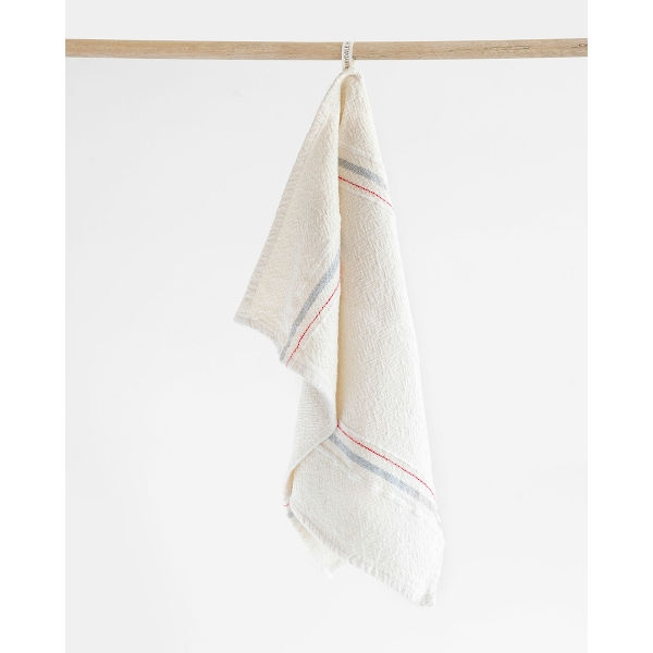 Barrydale Hand Weavers Country Towel - small VS - GREY/RED