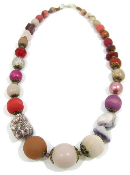 Halskette Floral Glam BERRY
