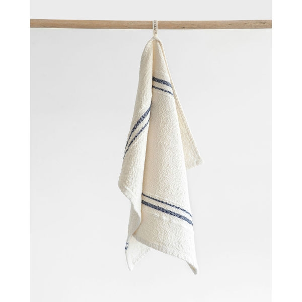 Barrydale Hand Weavers Country Towel - small VS - NAVY