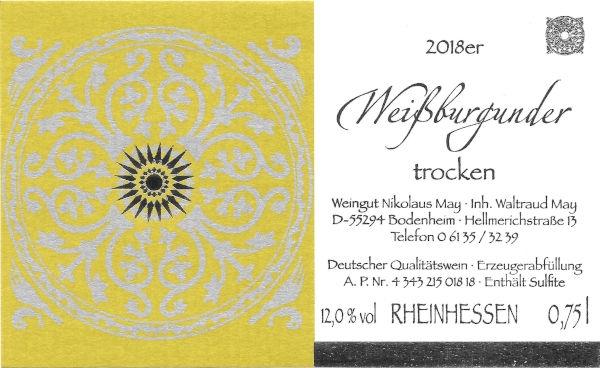 Weinhaus May Weißburgunder 2018 - trocken