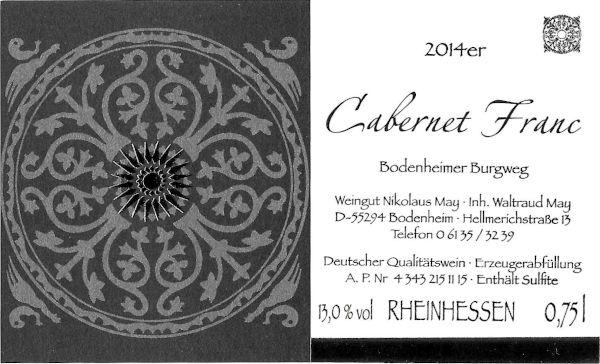 Weinhaus May Cabernet Franc 2014