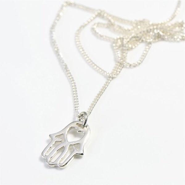 Hamsa Silver on Chain
