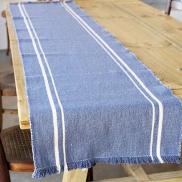 Barrydale Hand Weavers Tischläufer INDIGO 120x40cm