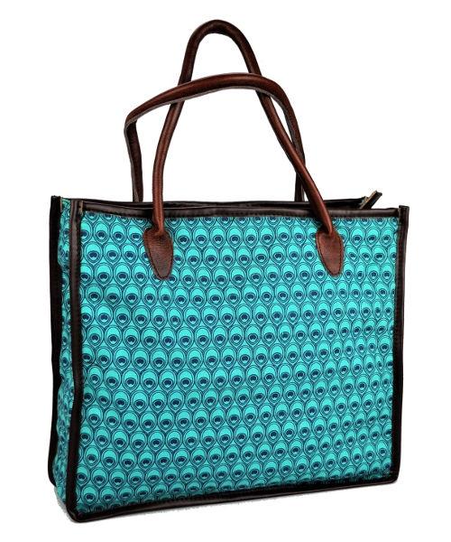 Mongoose Shopper Bag Peacock Teal Turq