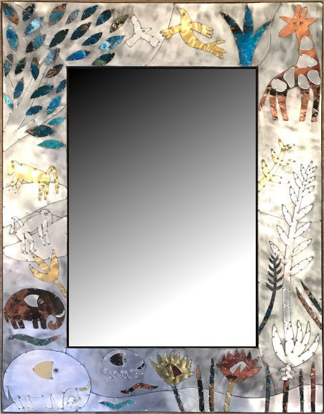 Sue Jowell Mirrors Floral Wildlife