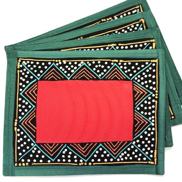 Carole Nevin Ndebele Red Platz-Set