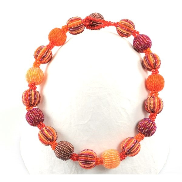 Halskette 18 Baubles (Magenta)
