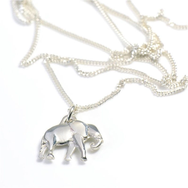 Angelheart Elephant Silver on Chain