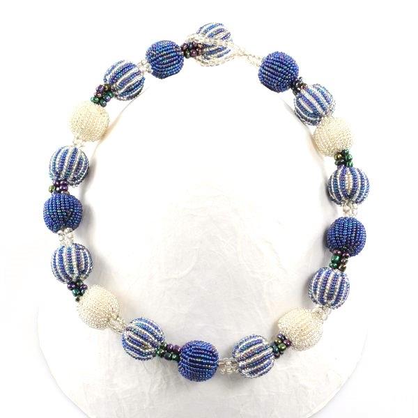 Halskette 18 Baubles (Metalic Blue)