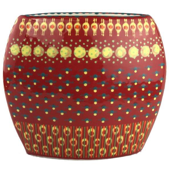Potterswork Flat Vase - dunkelrot
