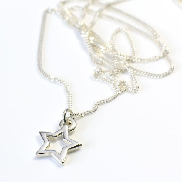 Angelheart Open Star Silver on Chain