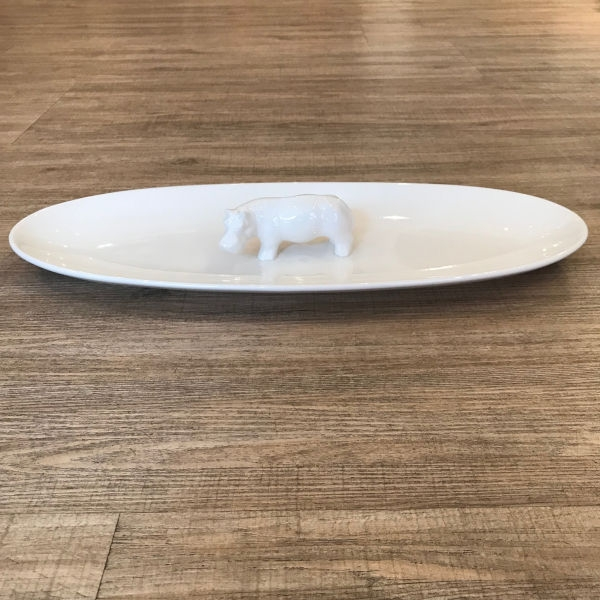 Xoologee Long Plate Hippo