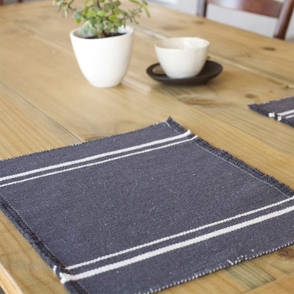 Barrydale Hand Weavers Platz-Set CHARCOAL (41x32cm)
