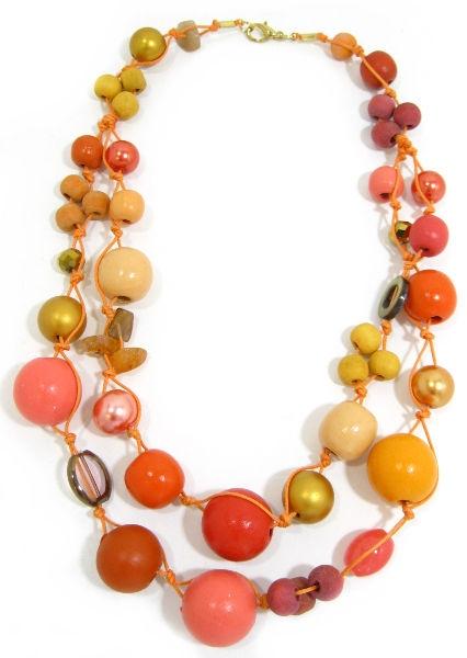 Halskette 2-Strang PAPAYA