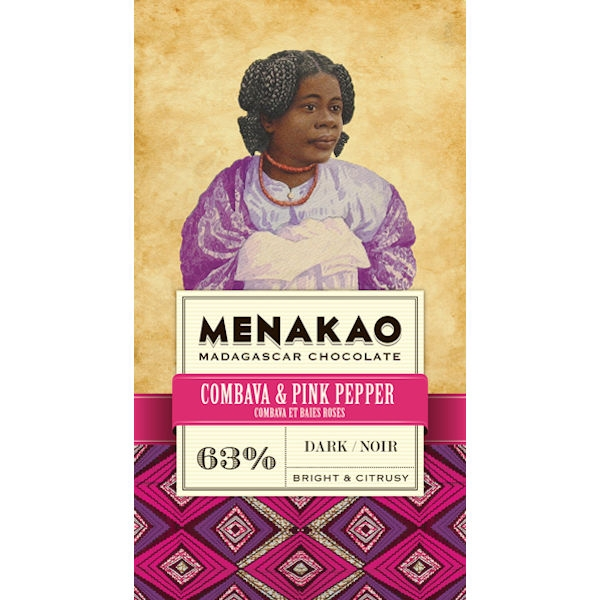 Combava & Pink Pepper Dark Chocolate 63%