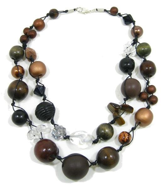 Halskette 2-Strang CHOC ECLAIR