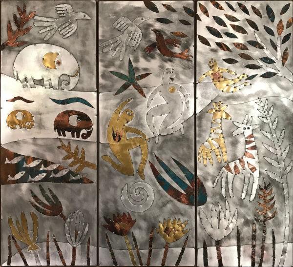 Sue Jowell Triptychon (3 x 87,5 x 32 cm)
