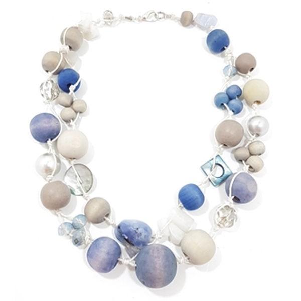 Halskette Betty Boo 2-Strang BLUE JAY