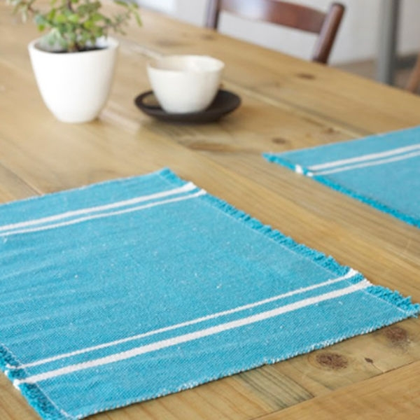 Barrydale Hand Weavers Platz-Set TEAL (41x32cm)
