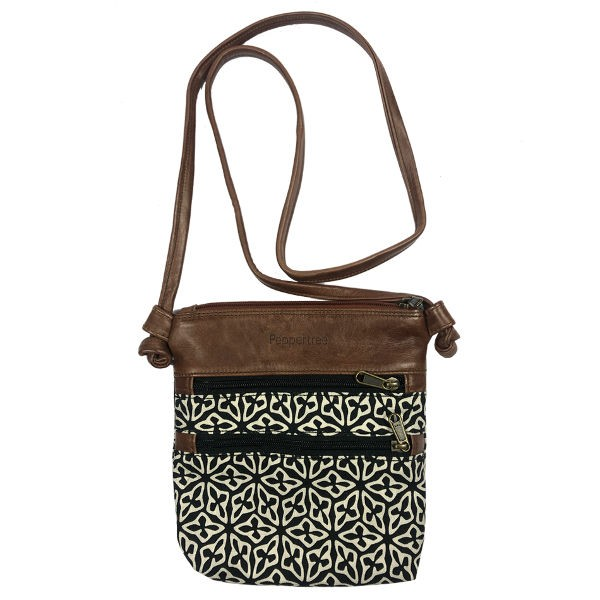 Peppertree Knotted Bag - small SEED BLACK