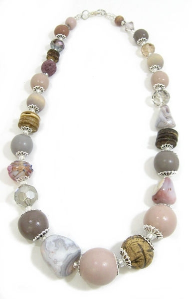 Halskette Floral Glam CHAMPAGNE ROSE