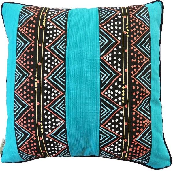 Carole Nevin Kissenbezug Zulu Beads Turquoise