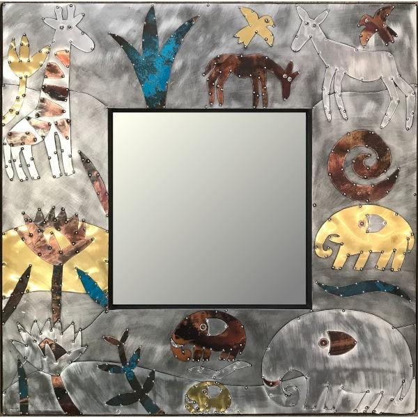 Sue Jowell Spiegel Floral Wildlife (60x60cm)