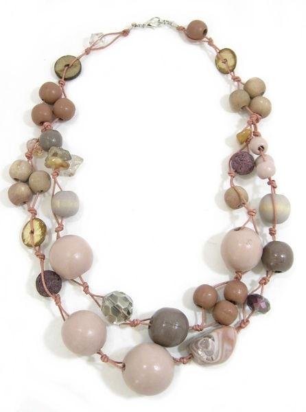 Halskette 2-Strang CHAMPAGNE ROSE