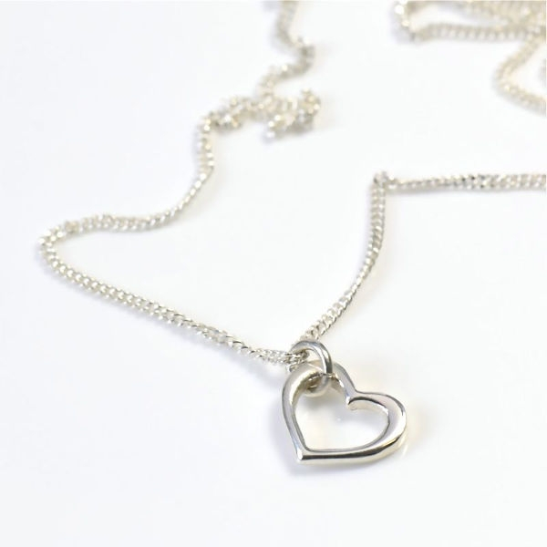 Angel Openheart Silver on Chain