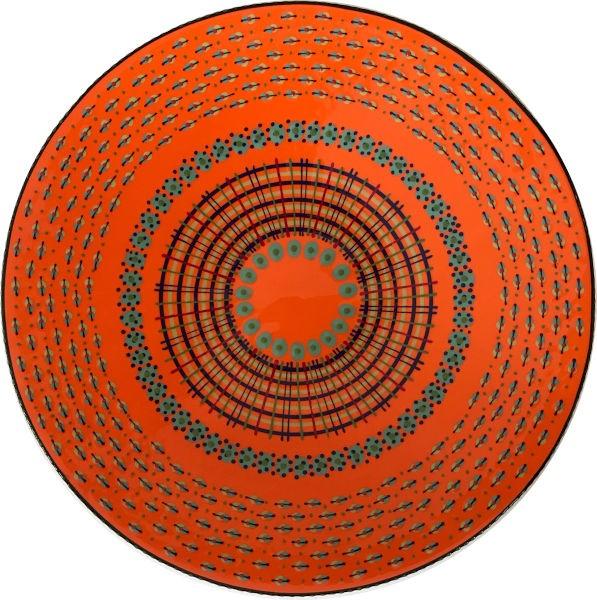 Potterswork Open Bowl Orange Jade