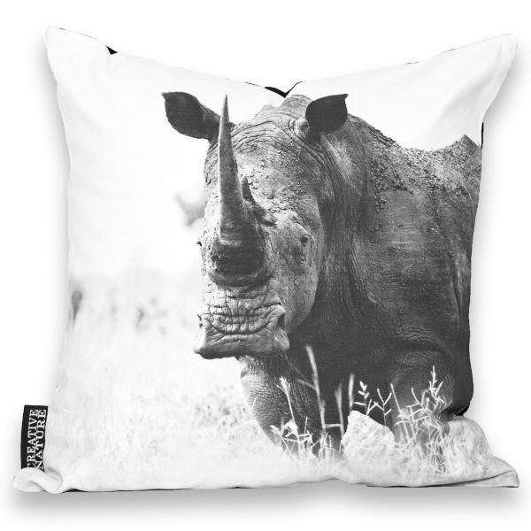 """Creative Nature Kissenbezug """"Rhino Savanne"""""""