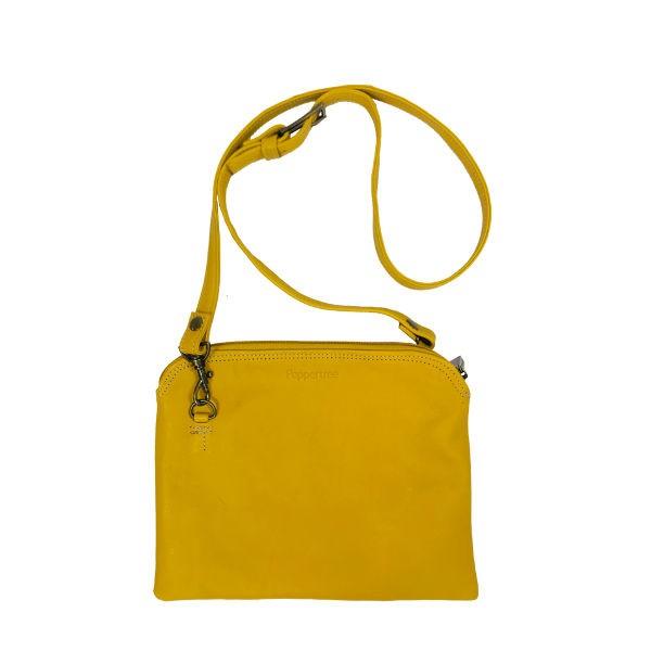 Peppertree Clutch Sling Bag - leather - Ochre