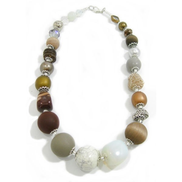 Halskette Floral Glam COGNAC