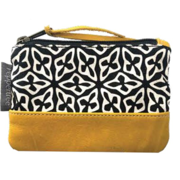 Peppertree Small Zip Purse - SEED BLACK