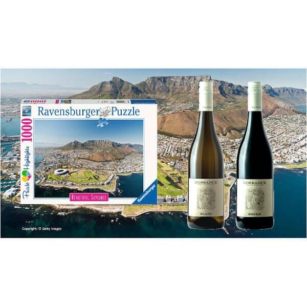 Wein und Puzzle-Set Cape Town