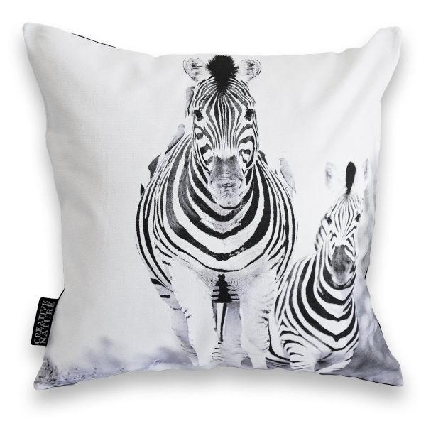 "Creative Nature Kissenbezug ""Zebra Running"""