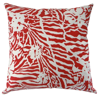 Kissenbezug Botanical Zebra Laquor Red