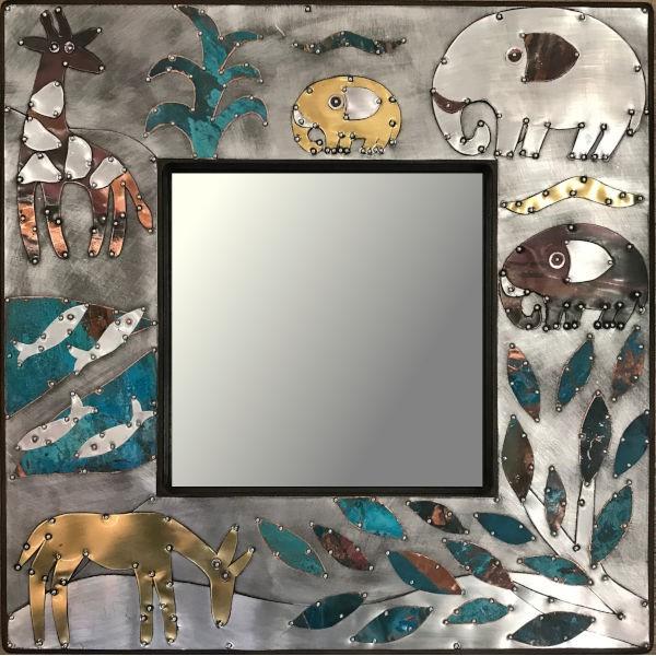 Sue Jowell Spiegel 40x40cm Sea & Wildlife