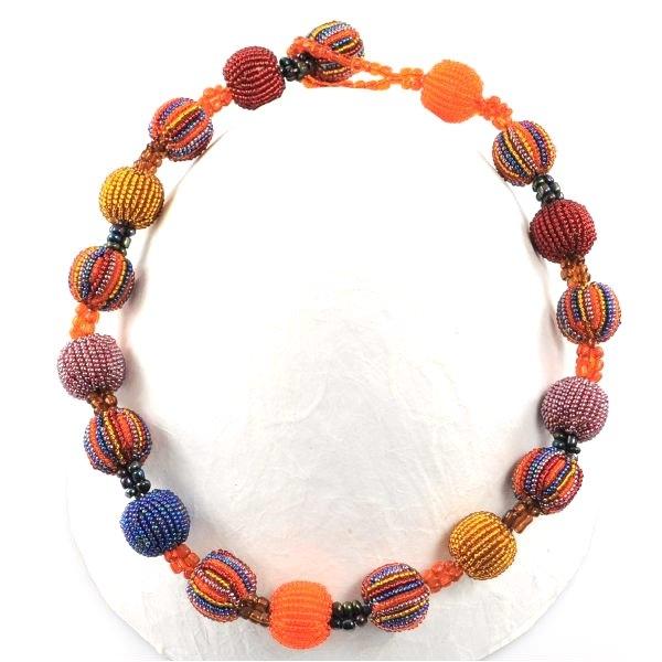 Halskette 18 Baubles (Burgundy)