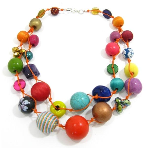Halskette 2-Strang MULTI COLOUR