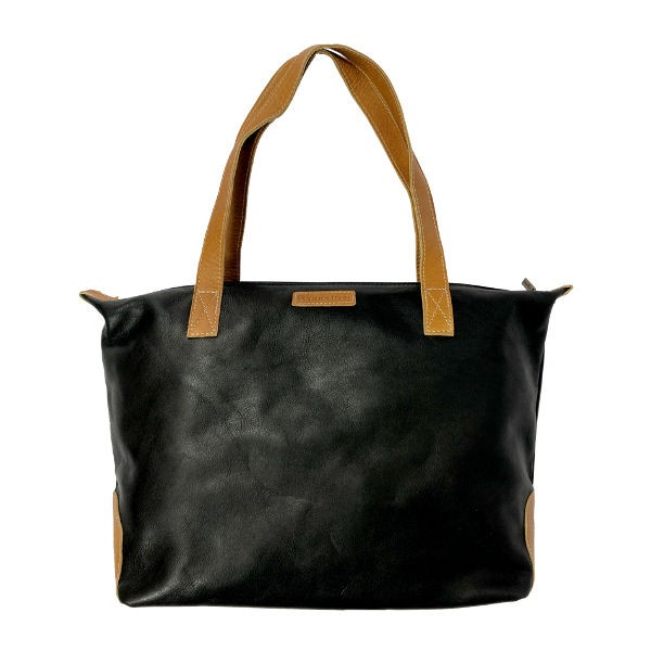 Peppertree Daily Bag - leather BLACK