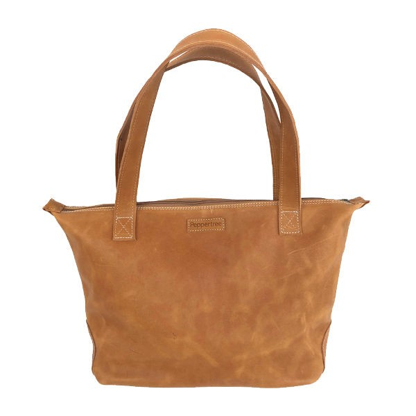 Peppertree Daily Bag - leather AMBER