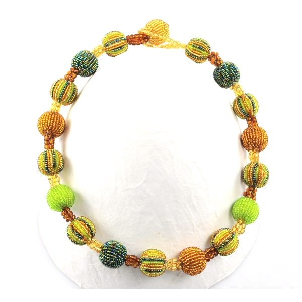 Halskette 18 Baubles (Verdigris)