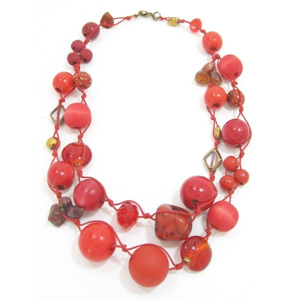 Halskette Betty Boo Zweistrang Poppy Red